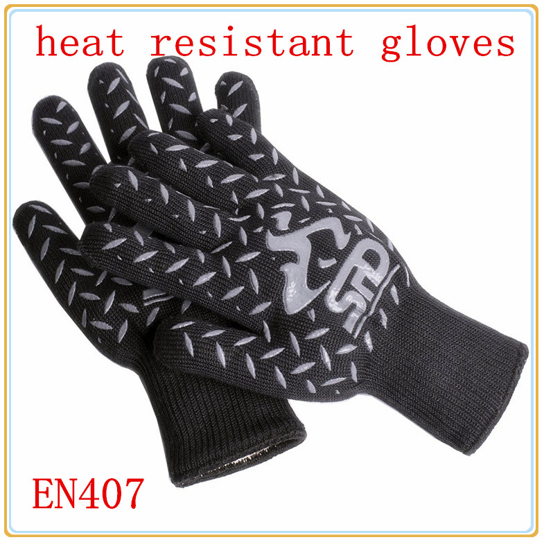 New Product free shipping aramid fire insulation gloves Heat resistant glove 932F bbq glove oven glove factory direct supply 1pair 932f new design bbq grill red silicone gloves heat resistant bbq gloves microwave oven glovesen 407