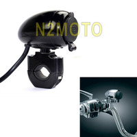 Black Motorcycles 1 7/8 Handlebar Cigarette Lighter 12V USB for ATV Scooter Motorcycles Bicycle