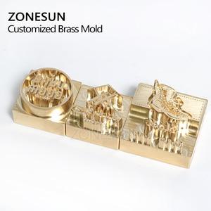 Image 2 - Zonesun 20 ミリメートルカスタマイズされたスタンプブランディングロゴのエンボス加工ホットstaming革レザーウッド個性燃焼ためスタンピング金型