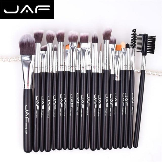 JAF 20 unids cosmética Cepillos set pro Cara Sombras de ojos Fundación Colorete LIP cosmética Cepillos cosméticos mezcla Cepillos herramienta 5m1228