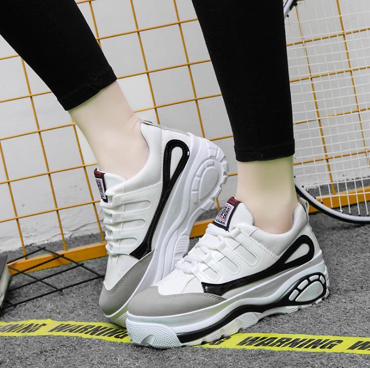 blanc Casual La Version Coréenne 2018 Chaussures De Noir Simples Femmes Sauvage Nouvelle Mode 4x6wqRH7