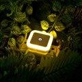 Intelligent Mini LED Night Light with Motion Sensor Lights Creative Square Energy Saving Home Illumination Wireless Bed Lamp