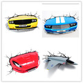 Hot Sell Car series 3D Decoration Wall Lamp Amazing Room Decoration Light Lampada de parede Xmas Gift
