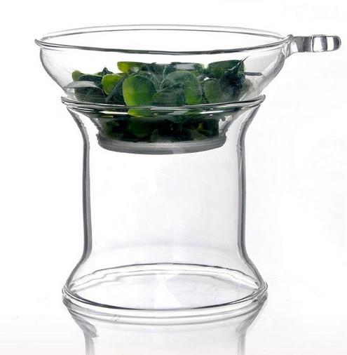 1PC Split type heat-resistant glass Kung Fu tea strainer manual transparent tea filters tea accessories JQ 1075