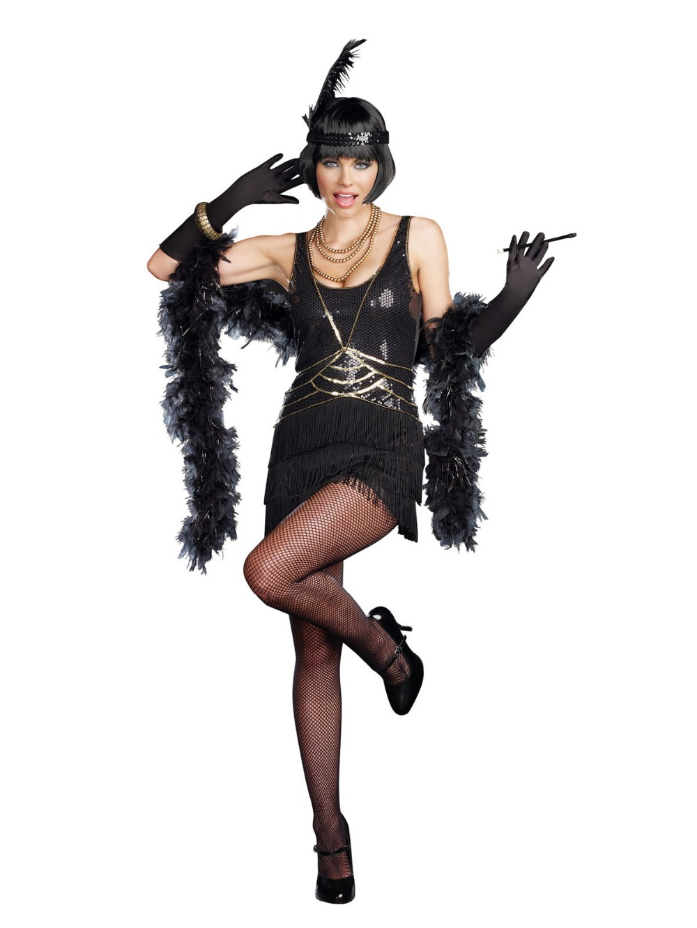 e6fe99c6b89 XXXL XXXXL plus size vintage Flapper 1920s Gangster Gatsby Charleston Deluxe  Sequin Women Costume hot sales