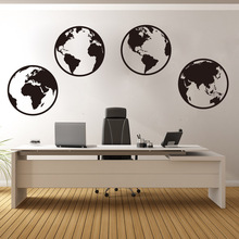 New arrival Globe Word Map Worldwide Wall Sticker Office Nursery Travel World Decal Bedroom Living Room Vinyl Decor