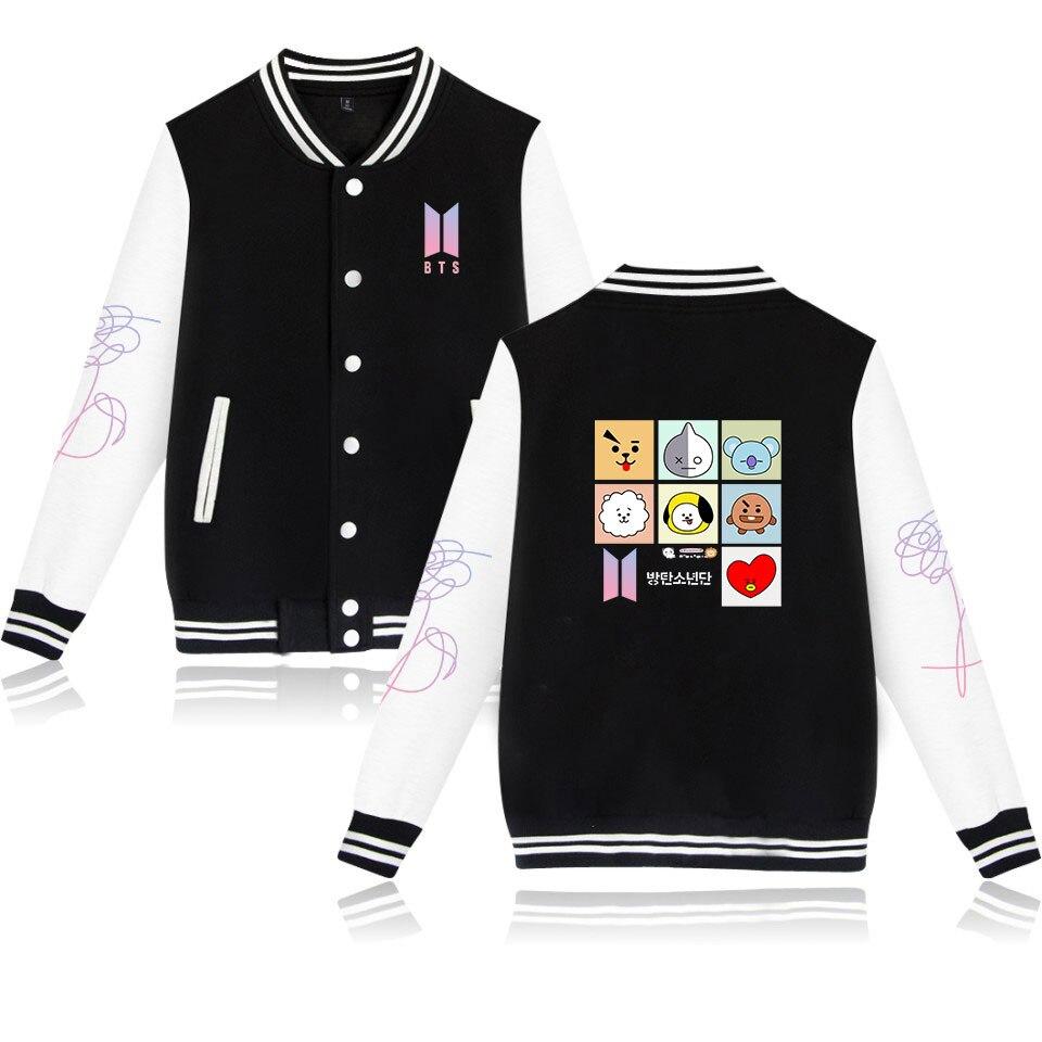 Expressive New Jackets & Coats Bt21 Fashion Mens Casual Jacket Dress Print Baseball Uniform Rich In Poetic And Pictorial Splendor Jackets