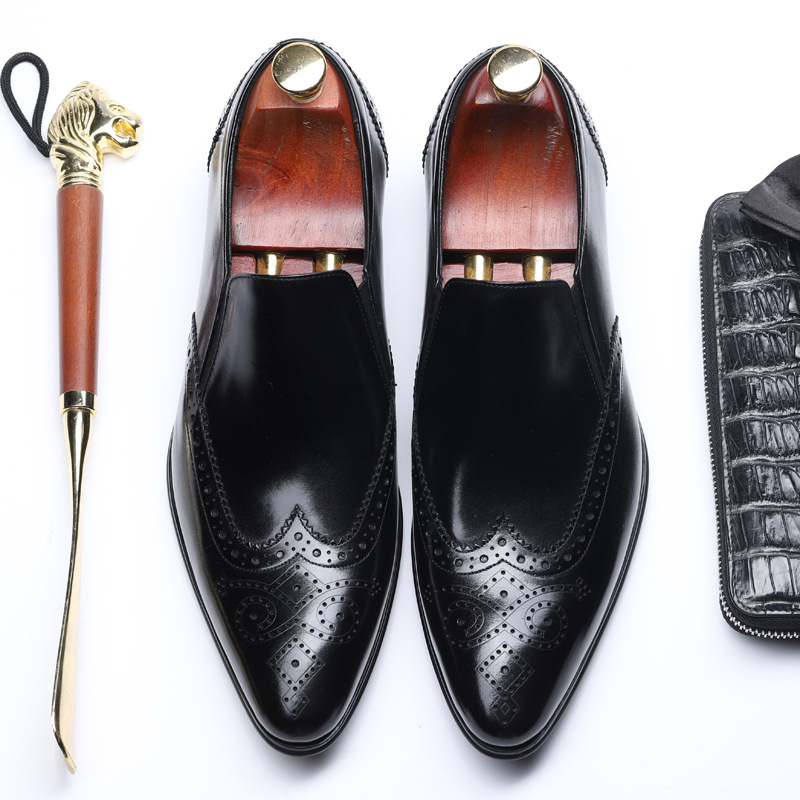 Factory direct wholesale European and American business dress mens wild England pointed leather sets of feet low to help singleFactory direct wholesale European and American business dress mens wild England pointed leather sets of feet low to help single