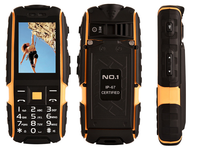 Original DTNO I A9 Rugged IP67 Waterproof Shockproof Phone 4800mAH Battery Flashlight 2 4 Long Standby