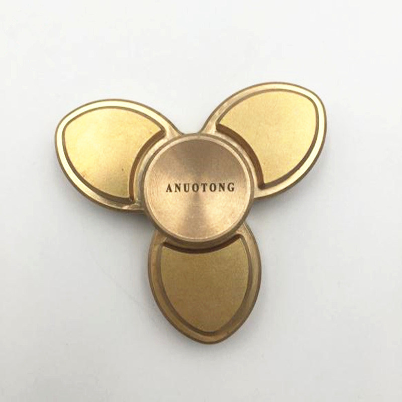 Nieuwe Tri-Spinner Fidget Spinner Copper Toy Hand Spinner Fidget For Autism And ADHD Kids/Anti Stress Adult Toys