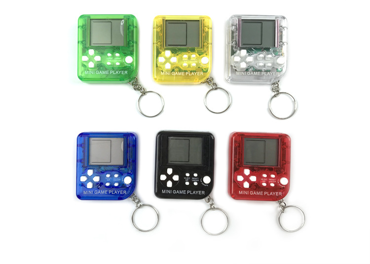 Friendly Mini Game Player Classical Game Tetris Electronic Mini Cyber Machine Education Toys For Kids Game Keychain Gifts Toys Video Games