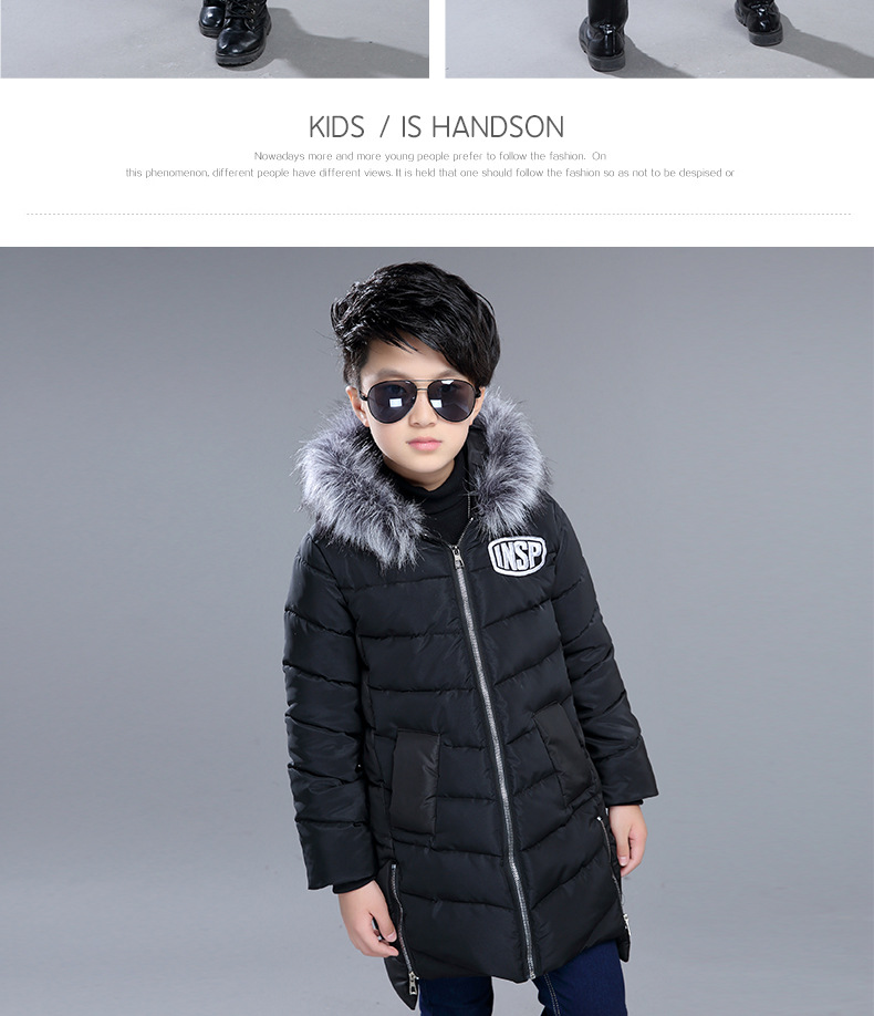 Children's Parka Clothes for Teen Boys 8 12 15 Years Old