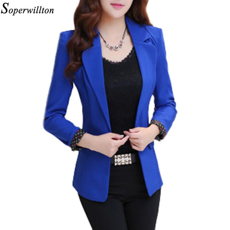 2017 Hot Spring Autumn Blazers Long Sleeve Single Breasted Women Coat Slim Fitted Short Jackets Feminina Tops OL work wear #BL11