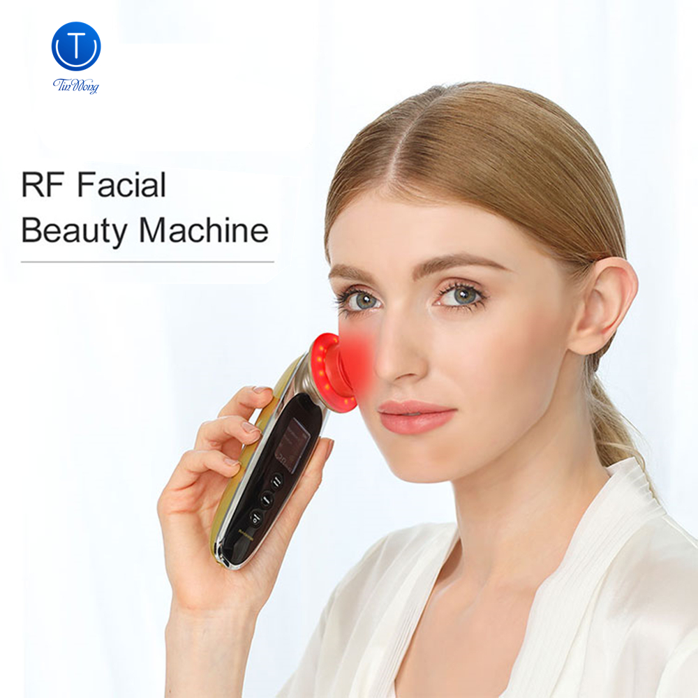 Tinwong RF Radio Frequency Facial Lifting Machine Wrinkle Removal Face Lifting Skin Tightening SPA RF Radiofrequency Massager