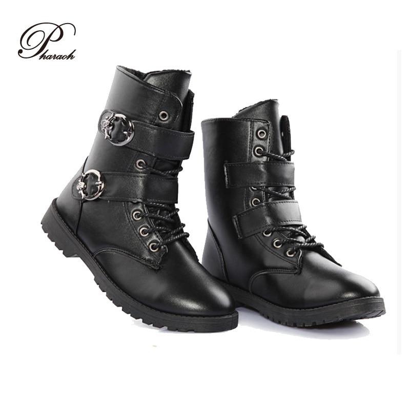 8c77a627ac1 Hebilla de moda hombres invierno martin botas para hombre de la motocicleta  hombre botines hombre zapatos en Botines de Zapatos en AliExpress.com