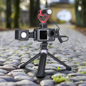 Image 2 - PGYTECH אוסמו פעולה DJI אוסמו פעולה ספורט מצלמה מקרה כיסוי מקרה פגז חצובה מיני Selfie מקל מיקרופון LED אור Accessorie