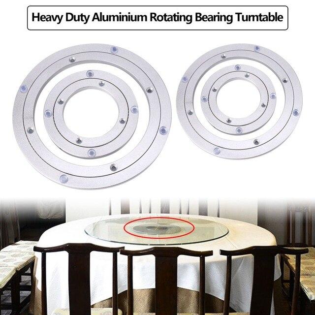 פטיפון צלחת שולחן חלק מסתובב צלחת מסתובבת שולחן אלומיניום סגסוגת מסתובב Bearing פטיפון עגול