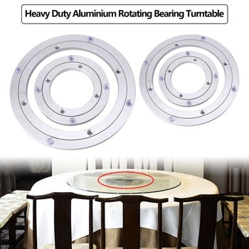 Turntable Plate Table Smooth Swivel Plate Rotating Table Aluminium Alloy Rotating Bearing Turntable Round 1pc 24 inches 58cm big aluminium alloy swivel plate for kitchen furniture lazy susan turntable dining table