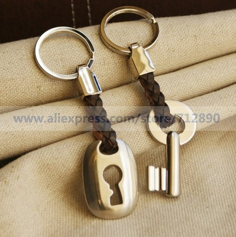"Free Shipping ""Hemp Roped in Love"" Key & Lock Keyring Set in Velvet Gift Bag For Wedding Favors Gifts Party Accessory Decoration"
