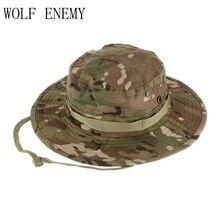 af48d2f1b4f30 Gorra de caza militar de alta calidad táctica Airsoft francotirador  camuflaje Boonie sombreros hombres y mujeres al aire libre m.