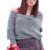 Venta caliente de las mujeres suéter de invierno cruzado de la manera hizo punto el poncho capas femme hombro suéter de punto Jumper Pullover Blusas