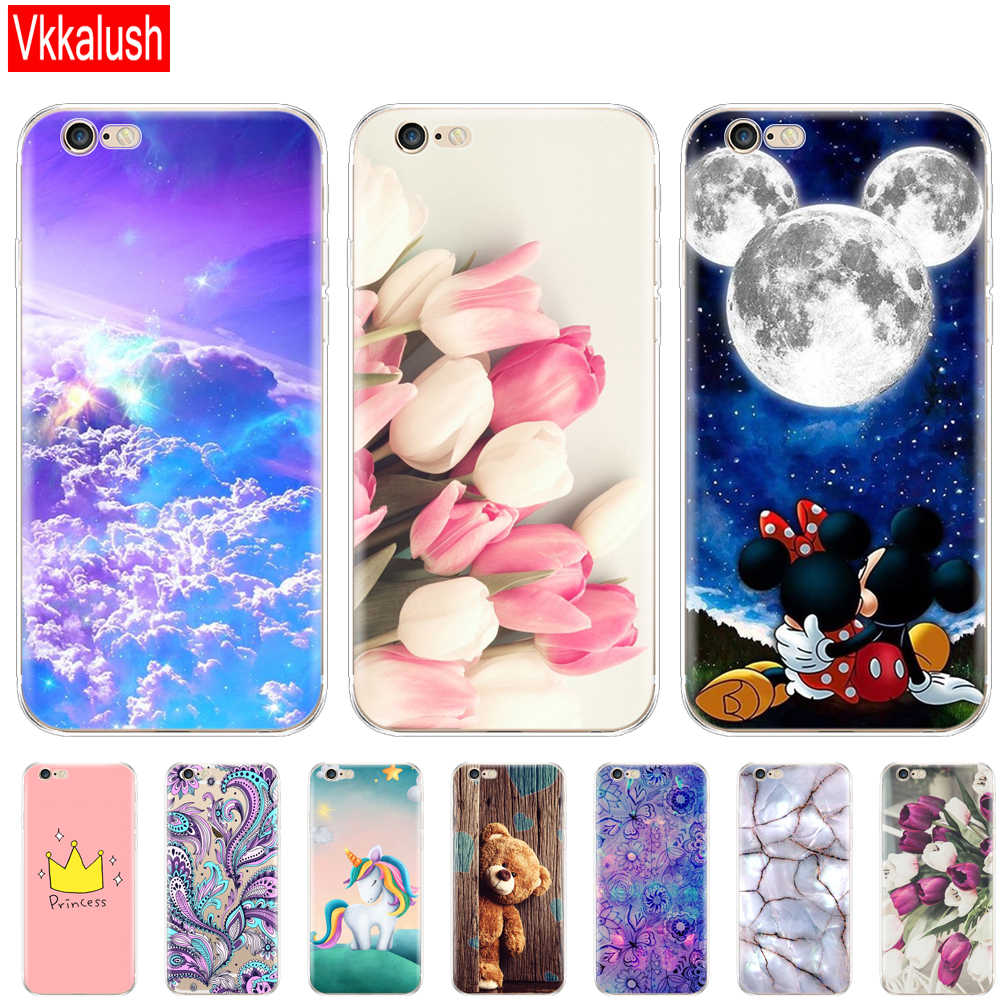 For iphone 5s 5 S Se 4 4s Case Soft TPU Phone Shell Cover For Apple iphone 6s 6 S Plus Fundas Coque Etui Bumper