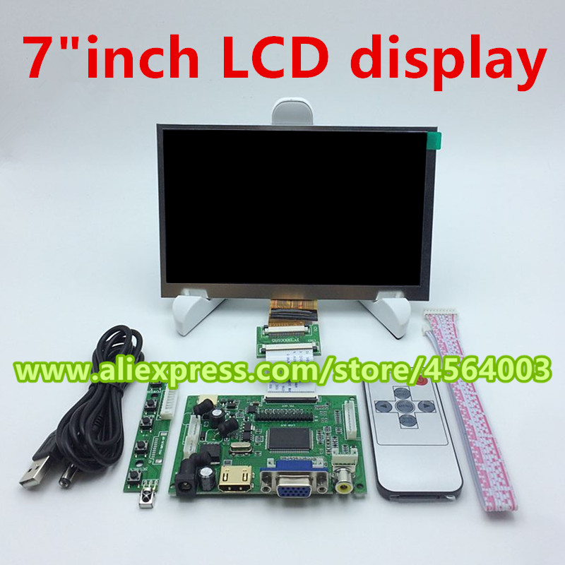 7 inch HD 1024*600 IPS screen display monitor LCD Controller board EJ070NA-01J HDMI+VGA+2AV driver board for raspberry orange pi