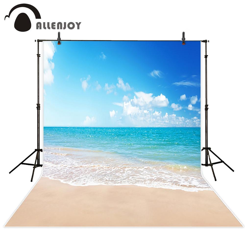 Prix pour Allenjoy studio fond bébé 6.5x10ft (200x300 cm) Bleu Ciel Station Balnéaire séance photo fond