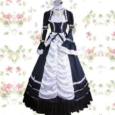 Top qualité sur mesure taille filles longue gothique Lolita robe femmes Cosplay Vestidos Lolita 23