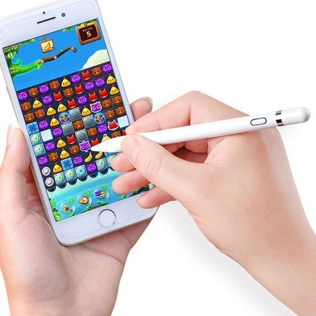 Aktif kapasitif stylus kalem Kalem Için iPad Mini iPhone Kalem dokunmatik ekran kalemi Android Samsung Için Huawei Ince Nokta Dokunmatik