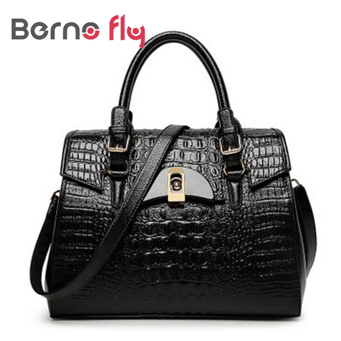ФОТО Fashion brand handbagsfor women Crocodile pattern shoulder bags ladies alligator messenger bag PU leather handbags