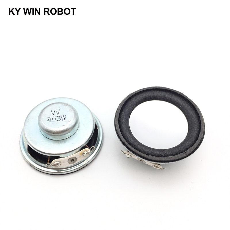 2PCS/Lot High Quality Speaker Horn 3W 4R Diameter 4CM Mini Amplifier Rubber Gasket Loudspeaker Trumpet White