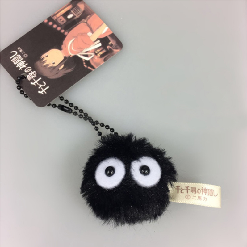 Cartoon Totoro Dust Elf Kawaii Plush Toys Baby Doll Peluche Stuffed Animals Soft Toys For Kids Girls Gift Bag Pendant Keychain