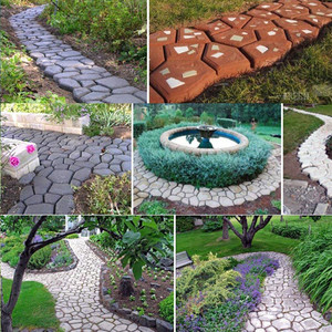 Image 5 - Black Plastic Making DIY Paving Mould Home Garden Floor Road Concrete Stepping Driveway Stone Path Mold Patio Maker