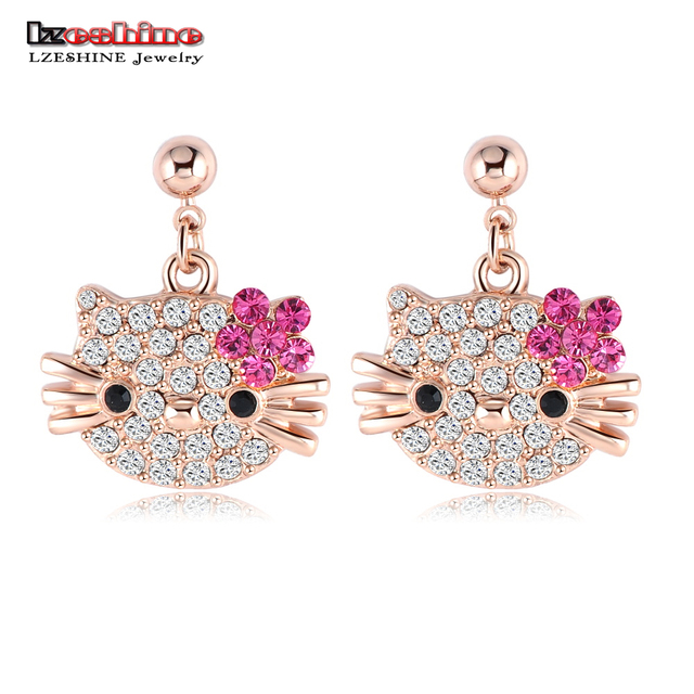 Lovely Cat Flower Stud Earring