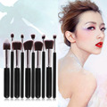 New 10Pcs Women Face Powder Foundation Makeup Cosmetic Brushes Set Eyeshadow Nose Lip Foundation Brush Cosmetic Makeup Tools
