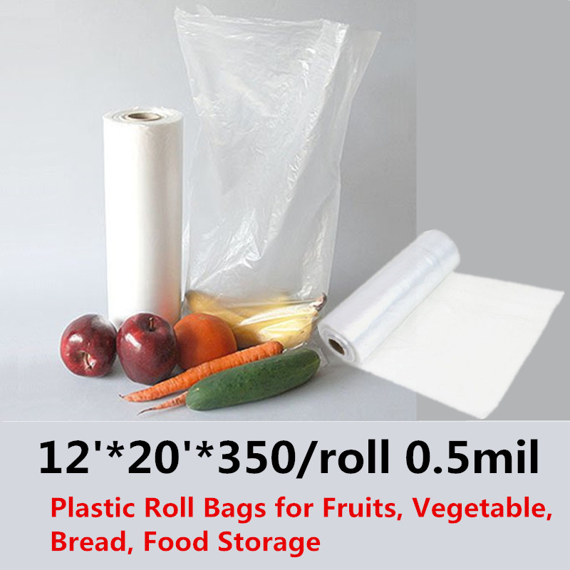 30x50cm Plastic fruit&vegetables/freezer/butcher/food storage Produce Bag On Roll Clear Bags Kitchen Food candy and baked goods 50 pcs crystal clear cello bags 39 5 cm x 45cm self adhesive opp cellophane bags