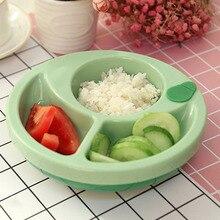 Детская посуда для кормления с изоляцией, нескользящая детская согревающая тарелка с сильным всасыванием, обучающая посуда для младенцев, зеленый/розовый цвет