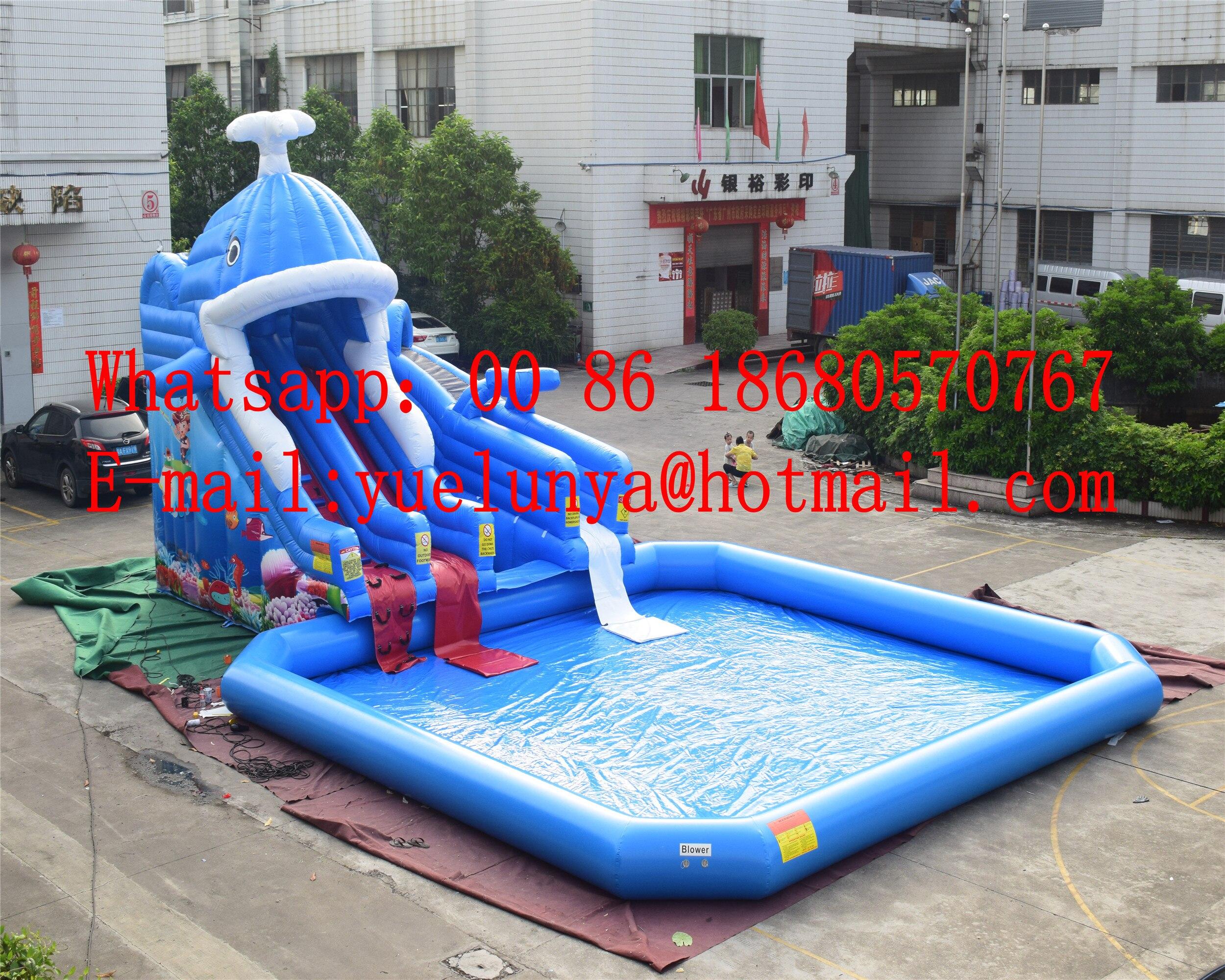 (China Guangzhou) Inflatable Slides,Castle Slides Ocean Pool Slide BYSW-14376