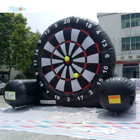 Outdoor Inflatable Recreation High Q Inflatbale football Soccer Dart Board With Balls Games Inflatable dart board for Commercial