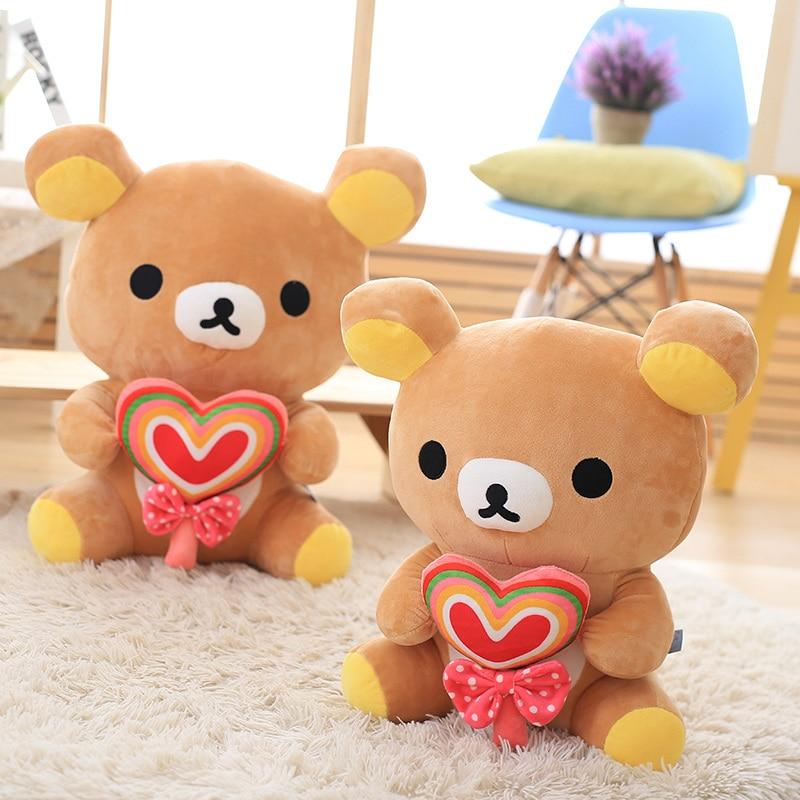 30cm Janpanese kawaii rilakkuma plush cute japanese stuffed animals doll Lollipop rilakkuma pillow teddy bears plush