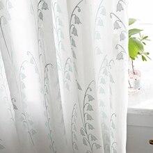 Chicity белые роскошные тюлевые шторы для гостиной вышитые Лилии долины тюль для спальни и кухни на заказ