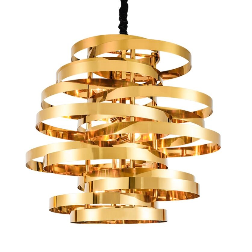 Modern stainless steel led pendant lamp gold individuality creative - Indoor Lighting - Photo 2