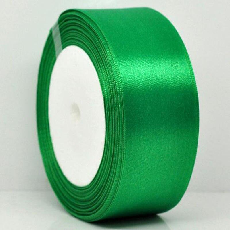 25 ярдов 1 рулон 1-1/2 «широкий Зеленый атласной лентой для упаковки Craft Свадебные Аксессуары ленты лук 38 мм