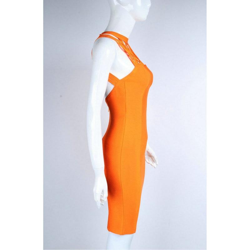 Attraente Cinghie Bodycon Sera Fasciatura Partito Multi Nuovo Hot Moda Di Sexy Vestito Del Arancione 2017 Dalla UTcBxzpqw