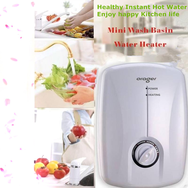 Electric Water Heater Tap Instantaneous Induction Hot Heating For Hotel  School Bathroom Toilets Sink Wash Basin