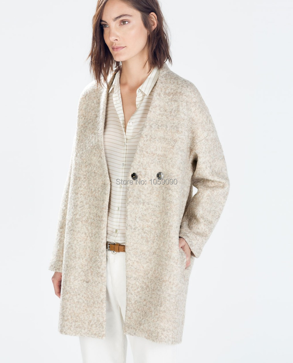 Beige coat women