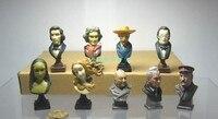 PVC Model Toys figuur wereldberoemde persoon 9 stks/set uitverkocht