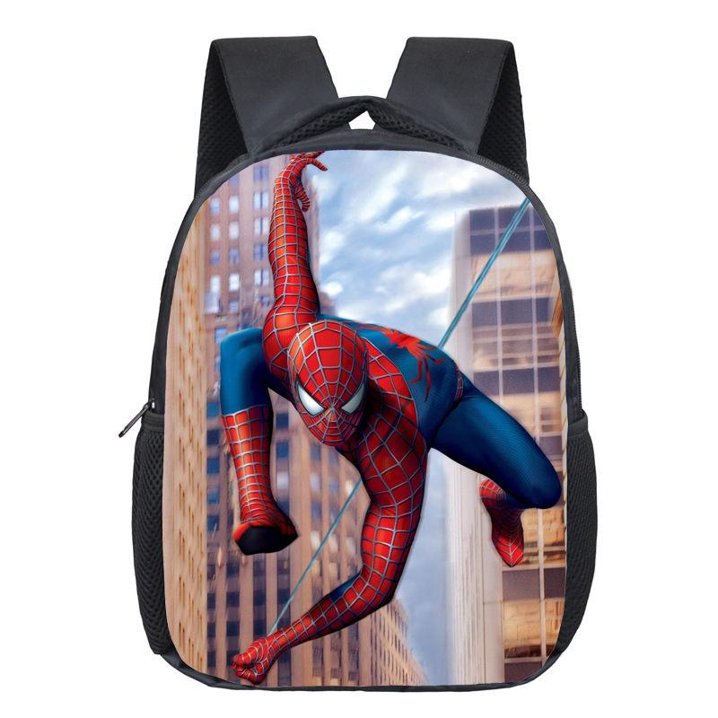 Comics Hero Spiderman Backpack Children Super