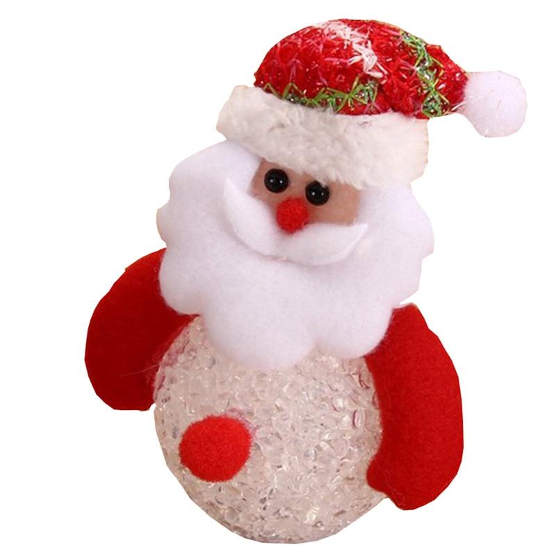 led christmas decoration eva emitting elderly elk snowman christmas ornaments bear embossed with light christmas decorations - Snowman Christmas Decorations